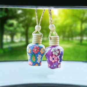 1pc Car Pendant Empty Bottle Soft Clay Aromatherapy Car Hanging Perfume Bottle Car styling Decoration Car accessories