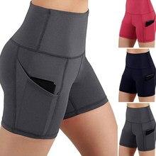 Gym Jogging szorty do biegania spodenki do jogi damskie wysokie talie podnoszenie Push Up Tight sport kieszeń Fitness joga krótkie spodnie
