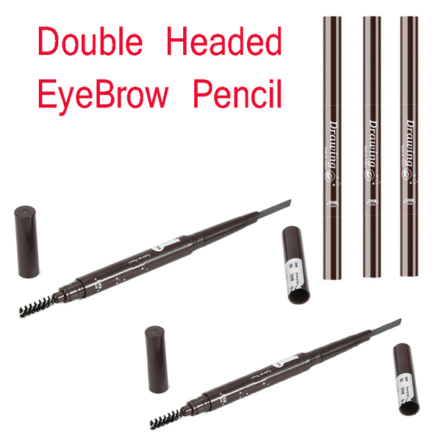 Double Headed EyeBrow Pencil Cosmetics Makeup Tint Long Lasting Paint Tattoo Eyebrow Waterproof 5 COLOR Eye Brow Makeup TSLM1