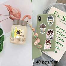 40Pcs/Set Kids Cartoon Waterproof Bangtan Boys Stickers Funny Bangtan Expression Stickers Girl Journal Bottle Moble Laptop(China)