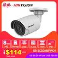 Hikvision оригинальная DS-2CD2085FWD-I 8MP IR фиксированная цилиндрическая IP камера POE CCTV Сетевая купольная камера безопасности IP67 IR30 3D DNR