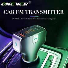 Trasmettitore FM Wireless Bluetooth vivavoce per auto lettore MP3 carica rapida 3.0 caricabatterie per auto multifunzione USB 5V elettronica per auto