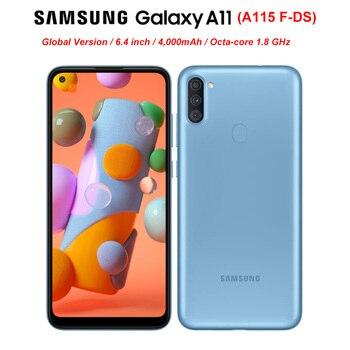 Перейти на Алиэкспресс и купить Глобальная версия Samsung Galaxy A11 A115F-DS Dual SIM 2 Гб RAM 32 ГБ ROM мобильный телефон 6,4 дюймOctaCore Android10 13MP 4000 мАч