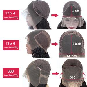 Image 5 - Парик женский из натуральных волос, 30/32 дюйма, 360 HD