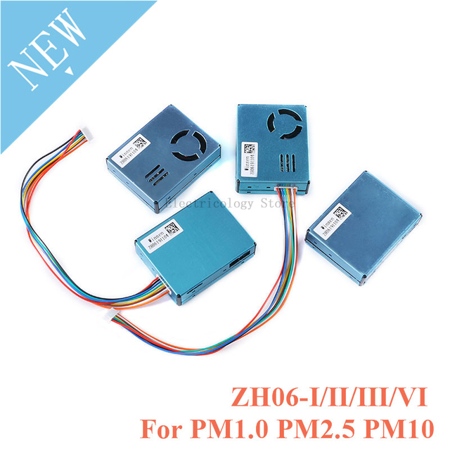 ZH06 PM2.5 Laser Dust Sensor Module ZH06 I/II/III/VI for Detection Air Quality Large Particles Laser Dust PM1.0 PM2.5 PM10