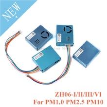 ZH06 PM2.5 ليزر الغبار الاستشعار وحدة ZH06 I/II/III/VI للكشف عن نوعية الهواء جزيئات كبيرة ليزر الغبار PM1.0 PM2.5 PM10
