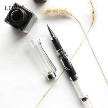 Перьевая ручка litzy прозрачная кисточка с многоразовыми чернилами