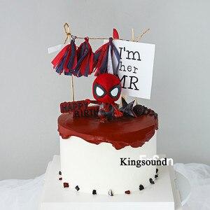 PVC model figurki zabawki spiderman dekoracja na przyjęcia urodzinowe dostarcza ozdoba na wierzch tortu prezenty dla gości w ramach podziękowań dla dziecka dzieci dzieci chłopcy dziecko