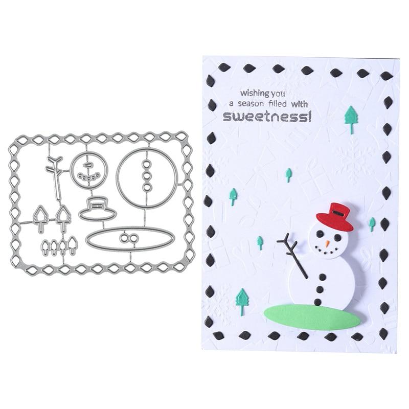 Snowman Cutting Dies Stencil DIY Scrapbooking Embossing Paper Card Decor