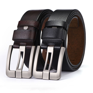 100% Cow genuine leather mens belt for men 2019 high quality luxury three 2 belt brown and black for men free shipping