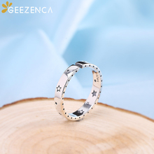 925 Sterling Thai Silver Star Sky Moon Open Rings Simple Trendy Resizable Ring Fine Jewelry for Women Cute Gift Party Casual 925 sterling silver thai handcrafted individual trendy leaf frosted fine bracelet creative feather lady s ring accessories