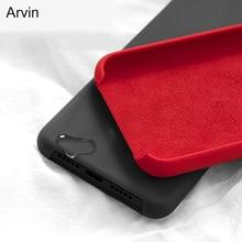 Arvin Original Case for Xiaomi Redmi Note 9 Pro Max 9S 5 6 8T 7 8 Liquid Silicone Luxury Phone Cover with Velvet