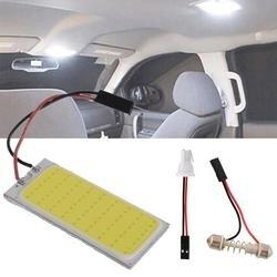 AUTO 2 pcs 12 V Xenon HID White LED Dome Map Light Bulb Car Interior Panel Lamp Interior LED bulbs car styling