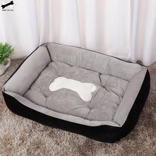 Cama para mascota hueso cama para mascota cálida de lino para perro pequeño mediano grande cama suave para perros lavable casa para gato cachorro de algodón lavado