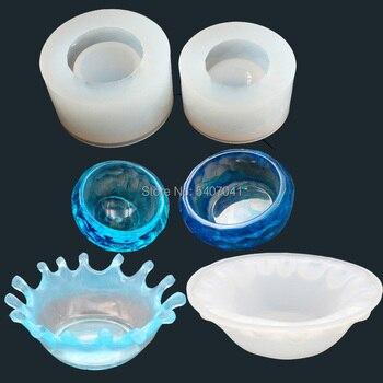 1 pieza plato arte de la placa transparente UV resina silicona combinación moldes para hacer bricolaje Accesorios