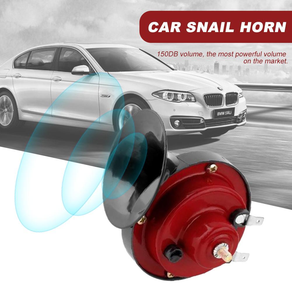 12 В 150 дБ универсальный автомобильный сигнал, автомобильный гудок, черный Улитка, водонепроницаемый сигнал, гудок для авто, автомобиля, груз...