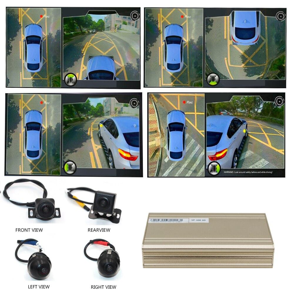 Carro Smartour 3D Surround Sistema de Monitoramento de Vista DVR Gravador de 360 Graus de Condução Vista Pássaro Panorama 4-CH Câmeras com sensor de G