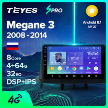 TEYES SPRO para Renault Megane 3 2008-2014 auto Radio Multimedia reproductor de Video GPS de navegación Android 8,1 No 2din 2 din dvd(China)