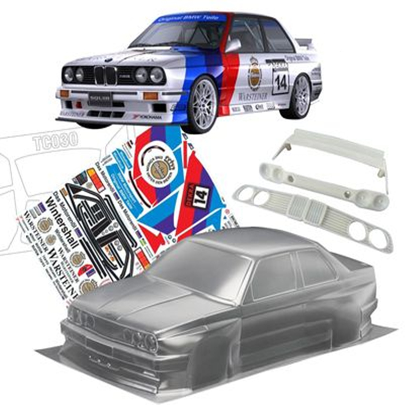 1set E30 M3 Sport Evolution 1/10 Drift RC PC Body Shell 190 Width Transparent Clean No Painted Drift Body RC Hsp Hpi Trax Tamiya