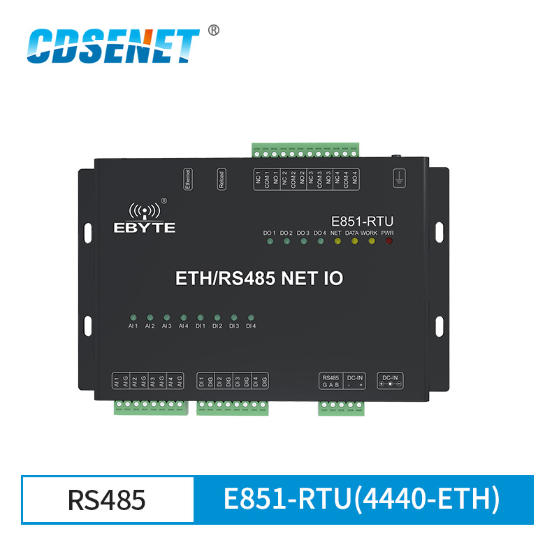 Ethernet RS485 12 Way Network IO Controller Modbus TCP RTU Analog Digital Input Relay Output Master Slave Socket Connection