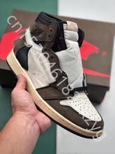 2020 фирменное обновление Тревис шотландец х баскетбол обувь 1 Высокое ОГ замши мода уникальный конструктор бронза черный Мужские спортивные