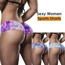 VERTVIE Women Short Skinny Stretch Biker Cycling Shorts Workout Tie Dye Tights Yoga High Waist Fitness Camouflage Legging
