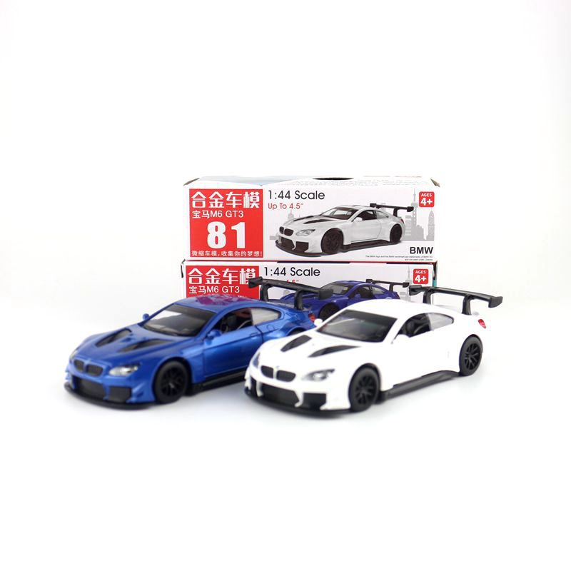 1:44 Scale M6 GT3 Alloy Pull-back Car Diecast Metal Model Car For Collection Friend Children Gift