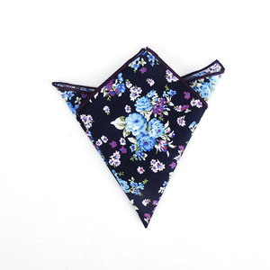 Image 5 - Brand New Style Mens Colorful Hankerchief Scarves Vintage Flower Hankies Mens Pocket Square Handkerchiefs Rose Flower Paisley
