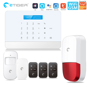 Tuya alarm security system Smart home MINI WIFI GSM Alarmsysteem Draadloze met IP Video Camera Alexa Google thuis