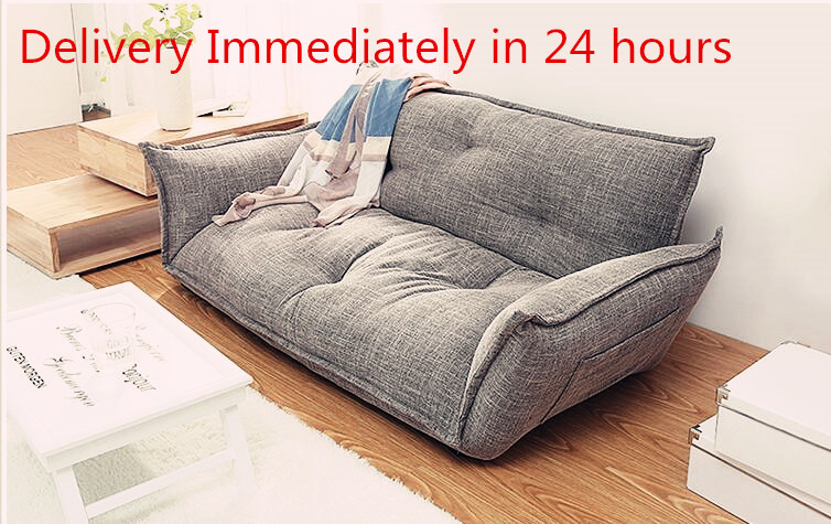 Modern Design Floor Sofa Bed 5 Position Adjustable Lazy Sofa Japanese Style Furniture Living Room Reclining Folding Sofa Couch image