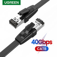 UGREEN Ethernet Kabel Cat8 40Gbps Flache Netzwerk Kabel High Speed Cat8 U/FTP für Laptop PC Router PS 4 Lan Patchkabel Kabel RJ45