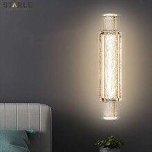 Light luxury bedroom bedside lamp modern minimalist living room TV background wall aisle designer decorative crystal wall lamp