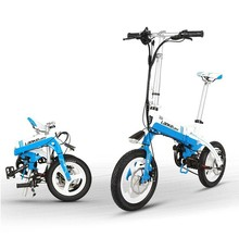 A6 Foldable Electric Bike Aluminum 14 Inch Electric Bike for Adults E-Bike with 36V 8 7 AH Built-in Lithium Battery cheap 351 - 500w 30km h Brushless Aluminum Alloy 31 - 60 km One Seat Mini Type 4-6 Hours 36V 8 7AH L G Lithium Bat 6061 aluminum alloy Foldi