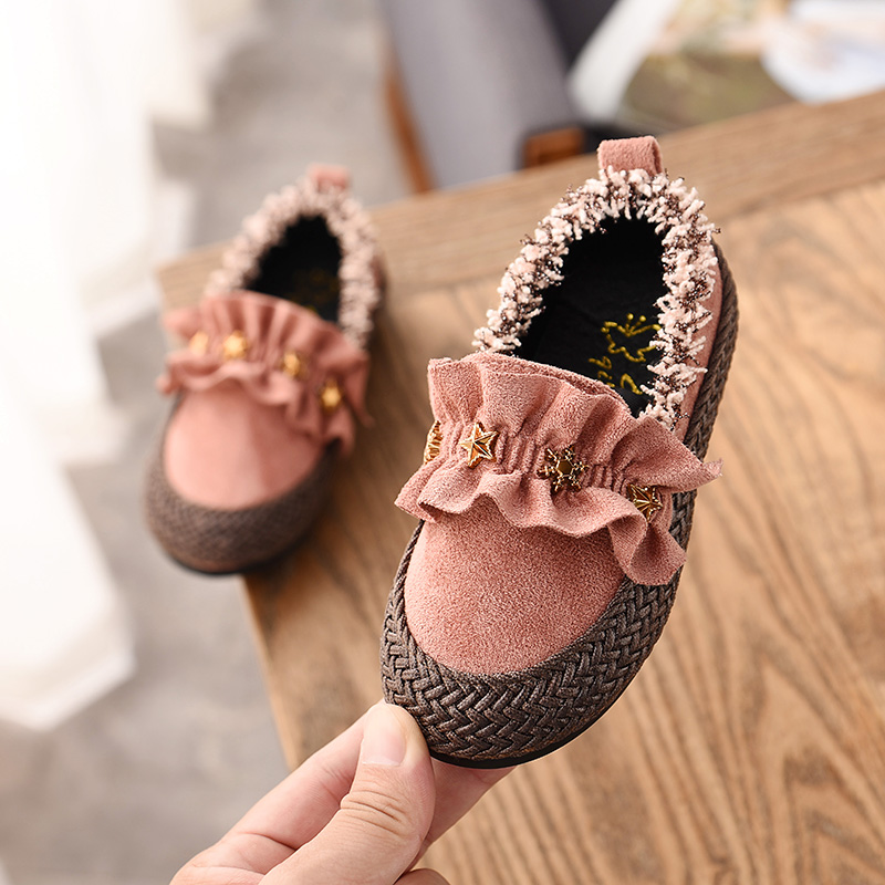 2019 Fashion Cute Baby Girls Flat Shoes Toddler Princess Baby Girls Shoes Kids Loafers Girls Casual Star Sneakers|  - title=