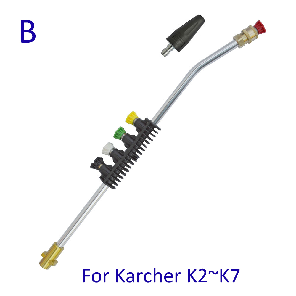 Pressure Washer Metal Wand Tips Water Spray Lance Spear Quick Jet Tips Rotating Turbo Nozzle for Karcher K High Presure Washer 1