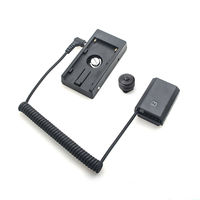 NP-FZ100 Dummy Battery Plate+F970 battery Adapter Mount Plate Spring Cable For Sony