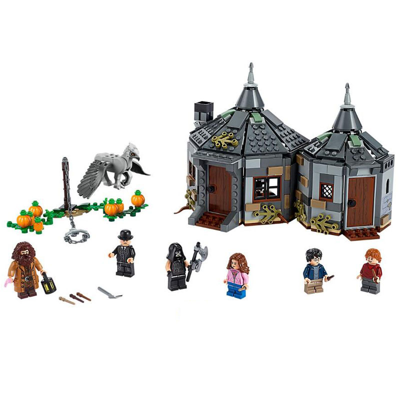 New 11343 Potter Movie Hagrid's Hut: Buckbeak's Rescue 496Pcs Building Blocks Bricks Kids Toy  Gift Compatible Legoinglys 75947