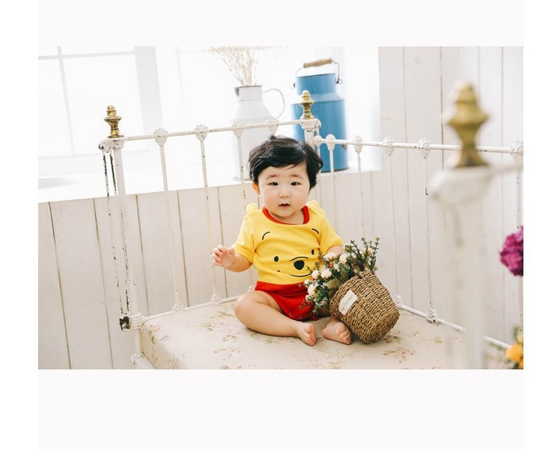 Clothes For Babies Cute Cartoon Newborns Clothing Pure Cotton Triangular One-piece Romper Cute Mouse Kids Crawling Clothes