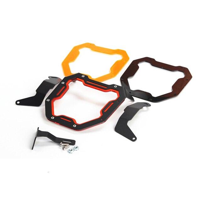 Motorcycle Head Light Mask For Honda Zoomer X110 Headlight Aluminum Alloy Protect Shield Motor Accessories 1
