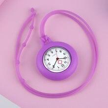 Милые модные часы в силиконовом корпусе ремешок кварцевые Подвеска