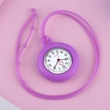 Cute Fashion Silicone Nurse Watch Lanyard Quartz Movement Pendant Watches Arabic Numerals Clock Steampunk Medical Doctor Watches