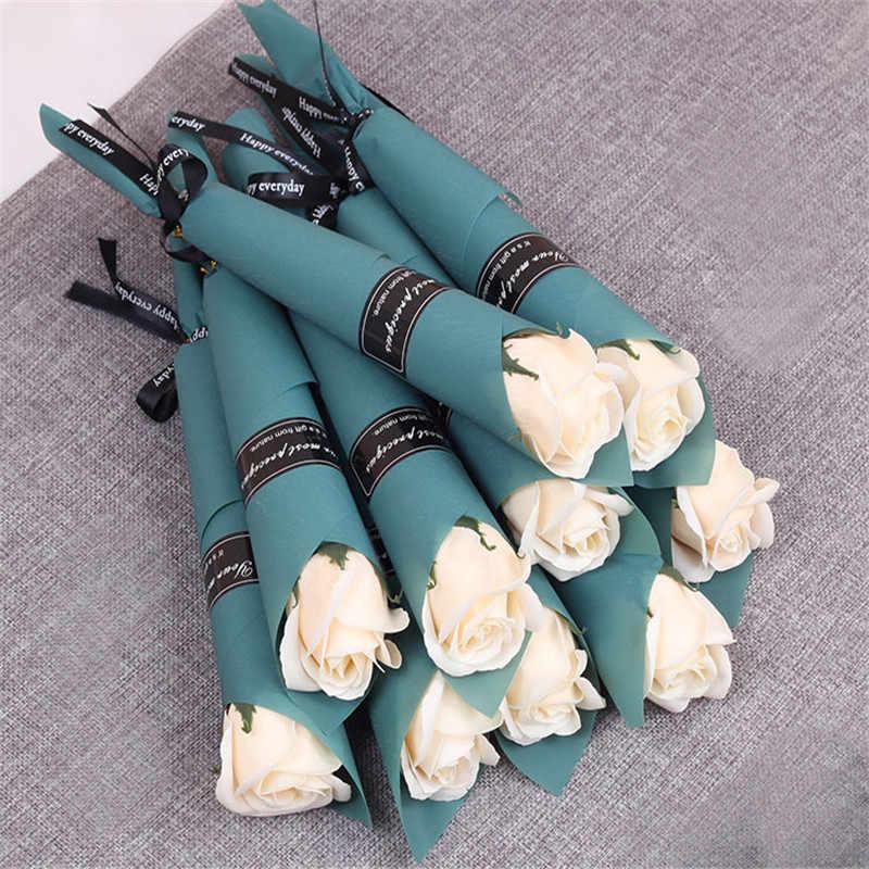 Sabun Bunga Buket Bunga Buatan Mawar Multicolor Rose Pernikahan Bunga Dekorasi Scrapbooking Bunga