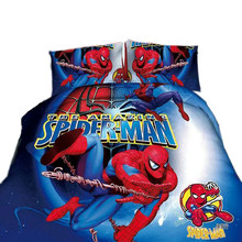 disney spiderman bedding set cartoon boy bed linens 3d single twin size 2/3/4pc duvet/comforter cover kids teen bedspreads gifts(China)