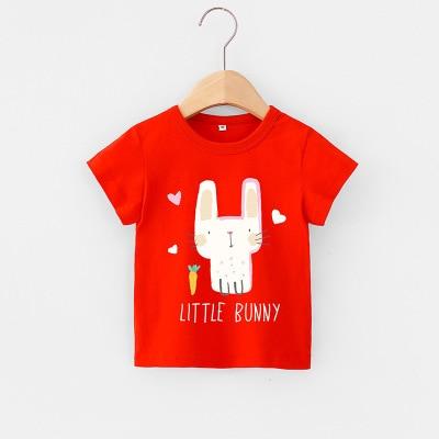 VIDMID Baby girls t-shirt Summer Clothes Casual Cartoon cotton tops tees kids Girls Clothing Short Sleeve t-shirt 4018 06 16