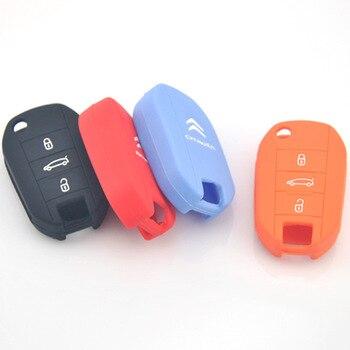 2014 akapit Elysee kluczowa pokrywa Elysee kluczowa pokrywa silikonowa xin vivienne tam Citroen klucz silikonowy okładka w Etui na kluczyki samochodowe od Samochody i motocykle na