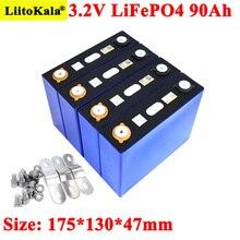 Liitokala 3.2v 90ah bateria 12v 24v 3c lifepo4 ferro de lítio 90000mah baterias do motor de carro elétrico da motocicleta