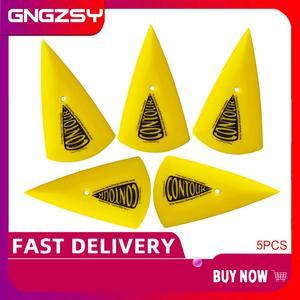 Image 1 - CNGZSY – grattoir dangle de Contour, autocollant en vinyle, Triangle pointu, jaune Go, raclette dangle, outils de teinte de fenêtre, 5 pièces, 5A13