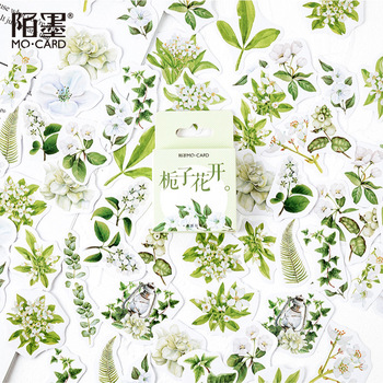 46pcs/pack Jasmine Flowers Decoration Stationery Sticker Diy Ablum Diary Scrapbooking Label - discount item  15% OFF Stationery Sticker