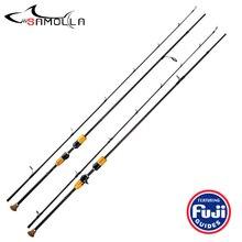 High Quality Fishing Rod Fugi Ring 2 Secs Spinning Casting Fishing Rods Canne A Peche Carbonne Vara De Pesca Olta Fishing Stick