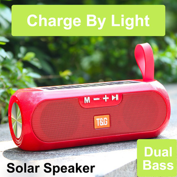 mini portable cute robot smart bluetooth speaker with music calls handsfree tf mp3 aux function for all bluetooth devices 2020 Solar Outdoor Bluetooth Speaker Portable With FM Radio TWS 5.0 Wireless Column Music Box Boombox MP3 TF USB AUX Loudspeaker